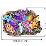 Interpaw My Little Pony Cartoon 3D Smashed Wall Stickers pour Chambres garçons et Filles Sticker Mural Taille Grand 80 cm X 57 cm de la marque Interpaw image 1 produit