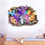 Interpaw My Little Pony Cartoon 3D Smashed Wall Stickers pour Chambres garçons et Filles Sticker Mural Taille Grand 80 cm X 57 cm de la marque Interpaw image 4 produit