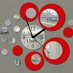 Itian Modernes Miroir Horloge Autocollants, Reflections Horloge Autocollants, Horloge murale moderne Autocollants, DIY chambre decoration Mural de la marque Itian image 1 produit