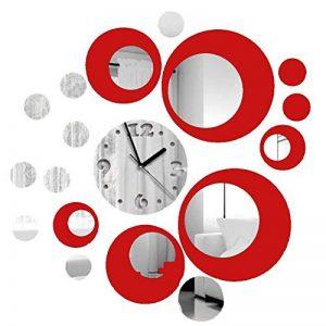 Itian Modernes Miroir Horloge Autocollants, Reflections Horloge Autocollants, Horloge murale moderne Autocollants, DIY chambre decoration Mural de la marque Itian image 0 produit