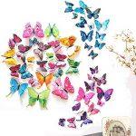 ivencase 96Pcs Stickers Muraux Papillons (Tailles Différentes) pour décoration de Maison, de Pièce, Réfrigérateur et Meuble, 3D Papillons Papiers Décoration,Amovible Réutilisable de la marque ivencase image 1 produit