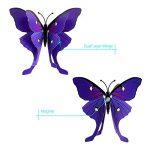 ivencase 96Pcs Stickers Muraux Papillons (Tailles Différentes) pour décoration de Maison, de Pièce, Réfrigérateur et Meuble, 3D Papillons Papiers Décoration,Amovible Réutilisable de la marque ivencase image 3 produit