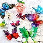 ivencase 96Pcs Stickers Muraux Papillons (Tailles Différentes) pour décoration de Maison, de Pièce, Réfrigérateur et Meuble, 3D Papillons Papiers Décoration,Amovible Réutilisable de la marque ivencase image 4 produit