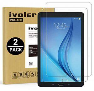 iVoler Pack de 2 Verre Trempé Compatible avec Samsung Galaxy Tab E/Tab E Nook 9.6 Pouces (SM-T560) [Garantie à Vie], Film Protection en Verre trempé écran Protecteur Vitre de la marque iVoler image 0 produit