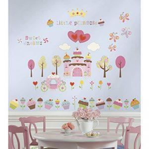 Jomoval Room Mates Stickers muraux repositionnables Château cupcake de la marque Thedecofactory image 0 produit
