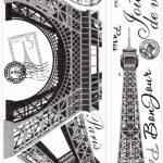 Jomoval Room Mates Stickers muraux repositionnables Tour Eiffel de la marque Thedecofactory image 1 produit