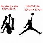 Jordan Basketball Vinyle Wall Sticker Mural Pour Chambres D'Enfants Chambre Décor Mural Gym Chambre Décoration Accessoires 104Cm X 110Cm de la marque YLGG image 3 produit