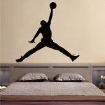 Jordan Basketball Vinyle Wall Sticker Mural Pour Chambres D'Enfants Chambre Décor Mural Gym Chambre Décoration Accessoires 104Cm X 110Cm de la marque YLGG image 1 produit