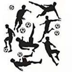Joueur de Football Garçons Personnalisé Prénom Art Mural Autocollant de la marque N/D image 3 produit
