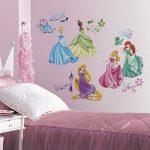 Joy Toy 21990 Autocollants muraux Disney Princesses avec éclat 4 Feuillage avec 37 éléments Plastique, Multicolore, 50x50x1 cm de la marque Joy Toy image 1 produit