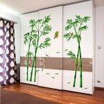 Junlinto Murale Vert Oiseau en Bambou Amovible Artisanat Art Sticker Mural Décor À La Maison Autocollant de la marque Junlinto image 3 produit