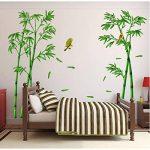 Junlinto Murale Vert Oiseau en Bambou Amovible Artisanat Art Sticker Mural Décor À La Maison Autocollant de la marque Junlinto image 4 produit