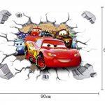 Kibi Stickers Muraux Cars 3d Disney Wall Decal Enfants Chambre Bébé Décoration Autocollants Muraux Cars Disney stickers Muraux Personnalisé Stickers Mural 3d Amovible XXL 90 x 60 CM de la marque Kibi Store image 1 produit