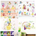 Kibi Stickers Muraux Princesses Disney Chambre D'enfants, Stickers Mural Enfant Fille Chambre Bebe Wall Sticker Kids Autocollants Princesse Amovibles de la marque Kibi Store image 2 produit