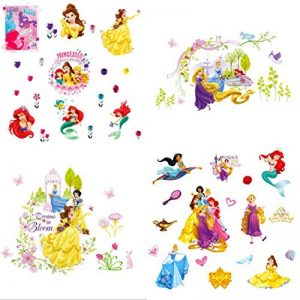 Kibi Stickers Muraux Princesses Disney Chambre D'enfants, Stickers Mural Enfant Fille Chambre Bebe Wall Sticker Kids Autocollants Princesse Amovibles de la marque Kibi Store image 0 produit