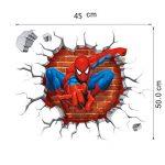 Kibi Stickers Muraux Spiderman 3D Effect Autocollants Chambre Decor Décoration Sticker Adhesif Mural Géant Répositionnable Stickers Muraux Enfants Spiderman de la marque Kibi Store image 3 produit