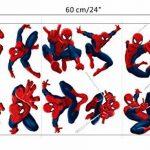 Kibi Stickers Muraux Spiderman 3D Effect Autocollants Chambre Decor Décoration Sticker Adhesif Mural Géant Répositionnable Stickers Muraux Enfants Spiderman de la marque Kibi Store image 4 produit
