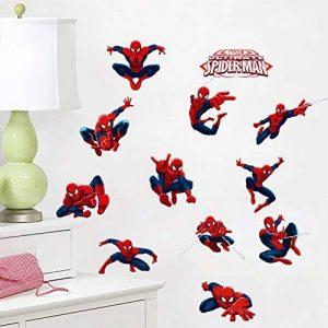 Kibi Stickers Muraux Spiderman 3D Effect Autocollants Chambre Decor Décoration Sticker Adhesif Mural Géant Répositionnable Stickers Muraux Enfants Spiderman de la marque Kibi Store image 0 produit