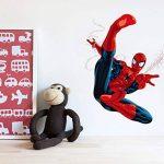 Kibi Stickers Muraux Spiderman 3D Effect Autocollants Chambre Decor Décoration Sticker Adhesif Mural Géant Répositionnable Stickers Muraux Enfants Spiderman de la marque Kibi Store image 1 produit