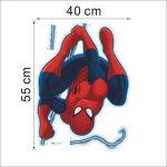 Kibi Stickers Muraux Spiderman 3D Effect Autocollants Chambre Decor Décoration Sticker Adhesif Mural Géant Répositionnable Stickers Muraux Enfants Spiderman de la marque Kibi Store image 2 produit