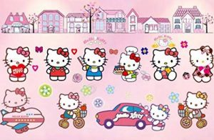 Kibi XXL Stickers Muraux Hello Kitty Autocollants Enfants Hello Kitty Stickers Muraux Enfants Hello Kitty Stickers Muraux Chambre Enfants Wall Sticker Hello Kitty Stickers de la marque Kibi Store image 0 produit