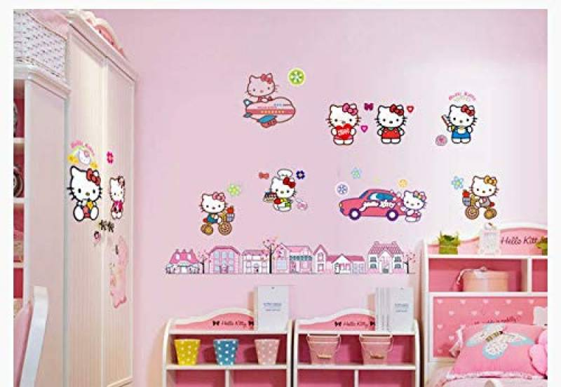 Stickers enfant planche de stickers Hello Kitty réf 9541