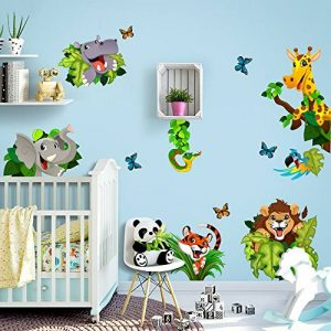 kina R00434 Stickers muraux pour Enfants imprimé sur papiers Peints - Cache-Cache Jungle de la marque kina image 0 produit