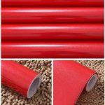 KINLO 5 * 0.61M Papier Peint Auto-Adhésif Rouge Armoire de Cuisine en PVC Imperméable Style Moderne Stickers Autocollant Muraux Étanche Décoration Chambre Salon Meuble de la marque KINLO image 4 produit