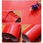 KINLO 5M Papier Peint Adhsif Rouleaux pour Armoires de Cuisine en PVC Self Adhesive Autocollant Meubles Porte Mur Placards Stickers Mural - Blanc de la marque KINLO image 2 produit