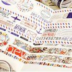 Kit n°2 Style Ancien- Top qualité - Washi Tape - 18m total de rubans adhésifs et 84 stickers - Idéal Scrap booking de la marque Générique image 2 produit