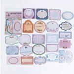 Kit n°2 Style Ancien- Top qualité - Washi Tape - 18m total de rubans adhésifs et 84 stickers - Idéal Scrap booking de la marque Générique image 4 produit