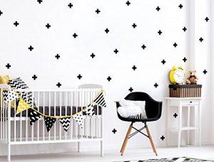 Kit stickers muraux chambre enfant croix noires pièces formes géométriques déc de la marque dekodino image 0 produit