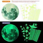 Konsait 435 Points Lune et Etoiles phosphorescentes Stickers Muraux fluorescents Lumineux Autocollant Plafond pour Décoration de Chambre d'enfant bébé de la marque Konsait image 1 produit