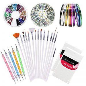 Kyerivs Kit de Nail Art Manucure Autocollants à Ongles-Diamant Décoration Ongle d'Art Nail Sticker et 15 Pinceaux Nailart de la marque Kyerivs image 0 produit