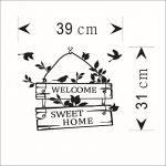 """L-Peach Stickers Muraux Élégant Proverbes Anglais """"Welcome Sweet Home"""" Vinyle Adhésifs Autocollant Amovible DIY Porte d'entrée Décoration Home Decor de la marque L-Peach image 2 produit"""