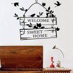 """L-Peach Stickers Muraux Élégant Proverbes Anglais """"Welcome Sweet Home"""" Vinyle Adhésifs Autocollant Amovible DIY Porte d'entrée Décoration Home Decor de la marque L-Peach image 1 produit"""