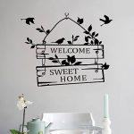 """L-Peach Stickers Muraux Élégant Proverbes Anglais """"Welcome Sweet Home"""" Vinyle Adhésifs Autocollant Amovible DIY Porte d'entrée Décoration Home Decor de la marque L-Peach image 4 produit"""