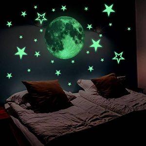Lamdgbway Lumineux 26pcs Étoiles et 30cm Lune Autocollants Brille Dans le Noir Fluorescents Autocollants Pour décoration Maison Enfants Chambre de la marque Lamdgbway image 0 produit