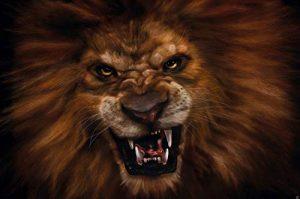 Le lion rugissant -XXL Image murale Le cri du lion - Dimensions du poster by GREAT ART (210 cm x 140) de la marque GREAT-ART image 0 produit