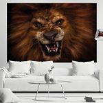 Le lion rugissant -XXL Image murale Le cri du lion - Dimensions du poster by GREAT ART (210 cm x 140) de la marque GREAT-ART image 1 produit