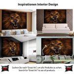 Le lion rugissant -XXL Image murale Le cri du lion - Dimensions du poster by GREAT ART (210 cm x 140) de la marque GREAT-ART image 3 produit