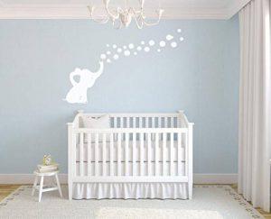 Les Bulles 'Eléphant Stickers Muraux Autocollants De Bricolage Décoration Bébé Mur Autocollants (Blanc) de la marque MAFENT image 0 produit