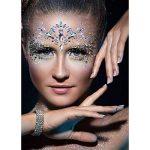 Les gemmes du visage, ETRONG 9 ensembles femmes festival de sirène les bijoux du visage visage strass paillettes autocollants de la marque ETRONG image 1 produit