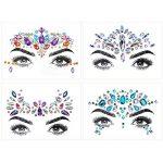 Les gemmes du visage, ETRONG 9 ensembles femmes festival de sirène les bijoux du visage visage strass paillettes autocollants de la marque ETRONG image 3 produit