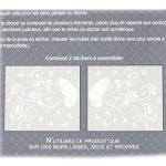Les Trésors De Lily [N6538 - Sticker Tête de lit 'Papillon Romantique' Blanc - 155x68 cm de la marque Les-Trésors-De-Lily image 2 produit