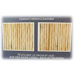Les Trésors De Lily [P5380 - Sticker Tête de lit 'Rondins de Bois' - 155x68 cm de la marque Les-Trésors-De-Lily image 3 produit