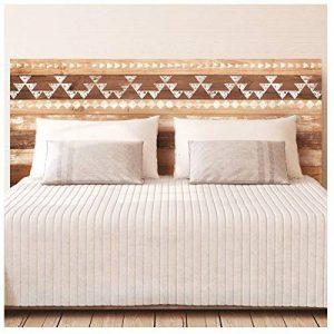 Les Trésors De Lily [P8523 - Sticker Tête de lit 'Bois Boho Ethnic' - 155x68 cm de la marque Les-Trésors-De-Lily image 0 produit