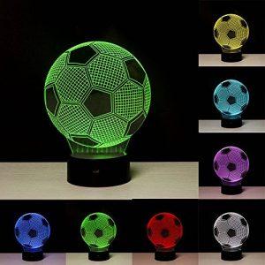 Linkax Veilleuse LED 3D Lampe Optique Illusion Veilleuse Enfant Lampe de nuit pour Chambre Chevet Table de Fille Fils Cadeau Anniversaire Surprise Deco Ambiance Créatif avec Câble USB et Télécommande de la marque Linkax image 0 produit
