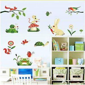 Ljtao Grenouille De Bande Dessinée Insectes Animaux De La Ferme Stickers Muraux Bricolage Bébé Enfants Chambre Décoration de la marque ljtao image 0 produit