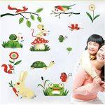 Ljtao Grenouille De Bande Dessinée Insectes Animaux De La Ferme Stickers Muraux Bricolage Bébé Enfants Chambre Décoration de la marque ljtao image 3 produit